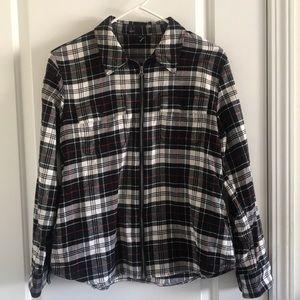 Ralph Lauren Flannel Full Zip Plaid Jacket